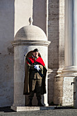 Guard at Quirinal Palace, the president's home, Rome, Italy