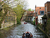 A boat tour of the canals, Bruges, Belgium
