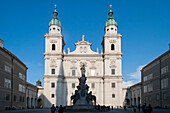 Baroque west facade, Cathedral, the historic center of the city of Salzburg, a UNESCO World Heritage Site, Austria