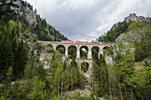 Krauselklause-Viadukt, UNESCO Welterbestätte Semmeringeisenbahn, Steiermark, Österreich