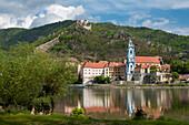 Augustinian Canons Durnstein, Danube, UNESCO World Heritage Site The Wachau Cultural Landscape, Lower Austria, Austria