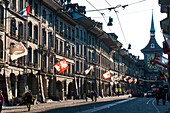 Kramgasse, UNESCO World Heritage Site Old Town of Bern, Canton of Bern, Switzerland