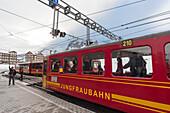 Jungfraubahn, Kleine Scheidegg, UNESCO Welterbestätte Schweizer Alpen Jungfrau-Aletsch, Kanton Bern, Berner Oberland, Schweiz
