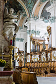 interior of Cathedral former collegiate church, choir stalls, UNESCO World Heritage Site Convent of St Gall, Canton St. Gallen, Switzerland