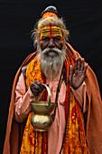 Portrait of a Sadhu, Rajasthan, India