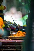Sacrificial altar in a Shiva temple, Goa, India