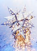 Close up of illuminated star lantern