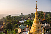 Kyaik Tan Lan Pagoda, the hill top temple in Mawlamyine, Mon State, Myanmar Burma, Asia