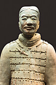 Museum of the Terracotta Warriors, bust of a Cavalryman, Xian, Shaanxi Province, China, Asia