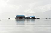 Old 20th century British Lake resort, now being restored, Inle Lake, Shan state, Myanmar Burma, Asia