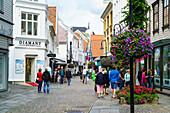 Pedestrianised shopping street in Stavanger, Norway, Scandinavia, Europe