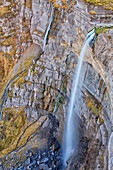 'Salto del Nervion' waterfall, near Osma, in the province of Burgos. The Salto del Nervion is the highest waterfall of Spain, it takes its origin from the confluence of three streams, Iturrigutxi, Ajiturri and Urita. The waterfall forms from temporary run