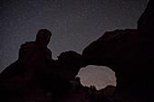 Broken Arch underneath a clear, dark sky.