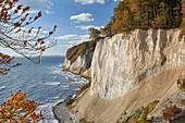Chalk cliffs at Ernst-Moritz-Arndt Sicht, Jasmund National park, Ruegen, Mecklenburg-Western Pomerania, Germany