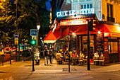 Nightlife, street cafe in the 10. Arrondissement, Paris, France, Europe