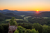 View of Dahnerfelsenland from Drachenfels, Palatinate Forest, Rhineland-Palatinate, Germany