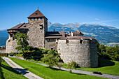 vaduz castle, residence of the reigning prince of liechtenstein, hans-adam ii, on the heights of vaduz, tax haven, vaduz, principality of liechtenstein