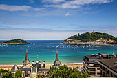 la concha bay and beach, san sebastian, donostia, basque country, spain