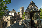 next to the ville close of the concarneau, chateau de keriolet, 13th century architecture and transformed in the 19th century by the  architect joseph bogot, the unusual destiny of the imperial princess zenaide narisckine and the count charles de cheauvea