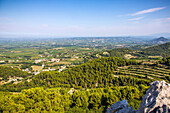 gigondas and vineyards, vaucluse (84), paca, provence alpes cote d'azur, france