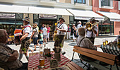 Local band walking in the street Berchtesgaden, Bavaria, Germany