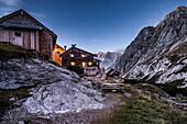 Coburger Hut, Mieminger Range, Zugspitz area, Alps, Tyrol, Austria