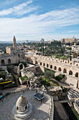 Tower of David museum, the main courtyard, jerusalem Old City, Israel, Middle East