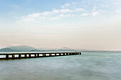 Landing Stage at Sirmione, Lake Garda, Lombardy, Alps, Italy