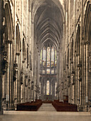 Cathedral Interior, Cologne, Germany, Photochrome Print, circa 1901