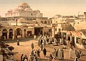 Bab Suika-Suker Square, Tunis, Tunisia, Photochrome Print, circa 1901