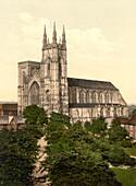 Priory Church, Bridlington, Yorkshire, England, Photochrome Print, circa 1901