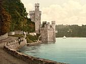 Blackrock Castle, County Cork, Ireland, Photochrome Print, circa 1901