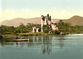 Ross Castle, Killarney, County Kerry, Ireland, Photochrome Print, circa 1901