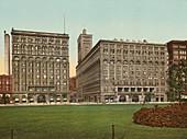 The Auditorium and Annex, Chicago, Illinois, USA, Photochrome Print, circa 1901