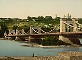 St. Nicholas Bridge, Kiev, Russia, Photochrome Print, circa 1901