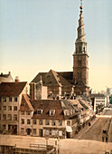Saviour Church, Copenhagen, Denmark, Photochrome Print, circa 1901