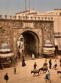 French Gate, Tunis, Tunisia, Photochrome Print, circa 1901