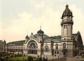 Railway Station, Cologne, Germany, Photochrome Print, circa 1901