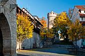 Pulverturm with city walls, Jena, Thuringia, Germany, Europe