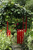 ornamental gate at The Summit, a tropical garden near Port Vila