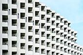 tiny rows of balconies at a Hotel, Playa de Las Americas, Los Cristianos, Tenerife, Canary Islands, Spain