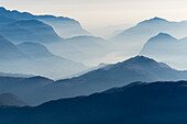 Mountains around Lugano, Sottoceneri, Lepontine Alps, canton of Ticino, Switzerland