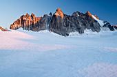 Glacier Plateau du Trient with the Aiguilles Dorées, Pennine Alps, canton of Valais, Switzerland