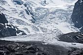 Morteratsch Glacier, Bernina Massif, Central Eastern Alps, canton of Grisons, Switzerland