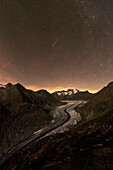 Great Aletsch Glacier, Bernese Alps, canton of Valais, Switzerland