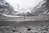 Glacier foreland of the Forno Glacier, Bregaglia Range, canton of Grisons, Switzerland