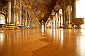 Grand mirrored hall, Castle of Herrenchiemsee, Lake Chiemsee, Bavaria, Germany