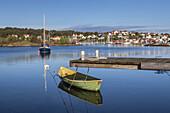 View over  the North Sea to Fiskebäckskil, Island Skaftö, Bohuslän, Västergötland, Götaland, South Sweden, Sweden, Scandinavia, Northern Europe, Europe