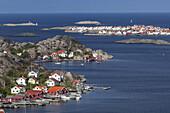 View from Rönnang on the island Tjörn over the North Sea to Klädesholmen, Bohuslän, Västergötland, Götaland, South Sweden, Sweden, Scandinavia, Northern Europe, Europe