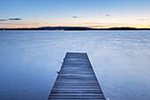 Landing-stage by the Lake Vättern near Karlsborg, Västergötland, Götaland, South Sweden, Sweden, Scandinavia, Northern Europe, Europe
